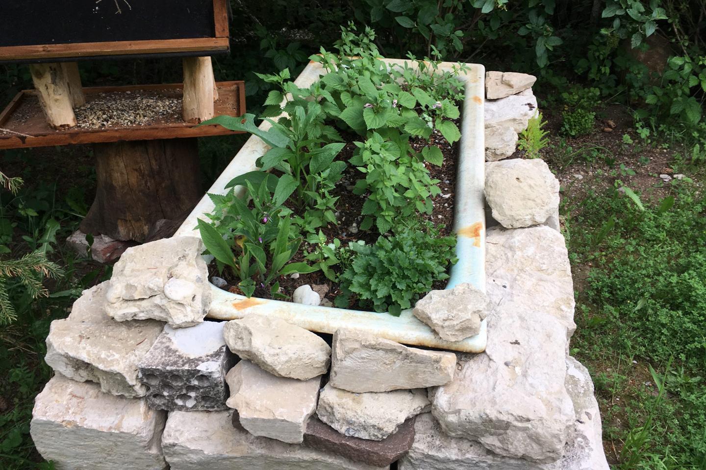 Hausgarten-31 Recyclingwanne Nesselbeet